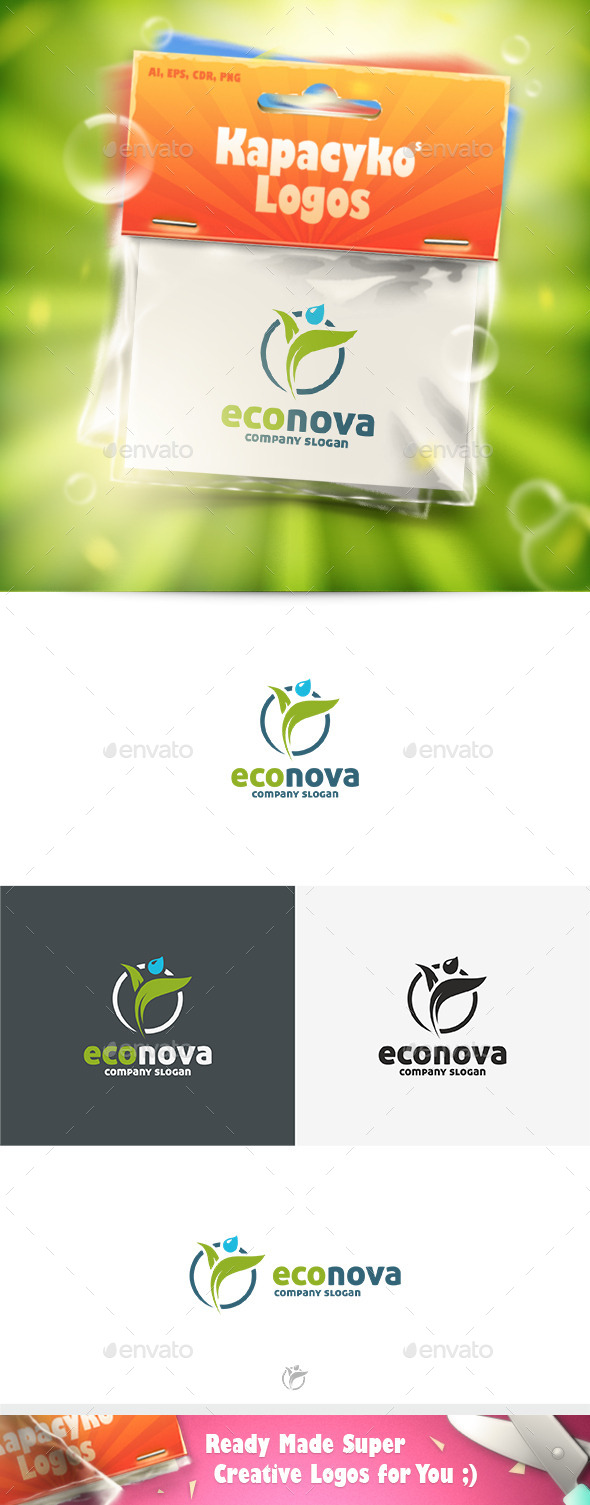 GraphicRiver Eco Nova Logo 9099681