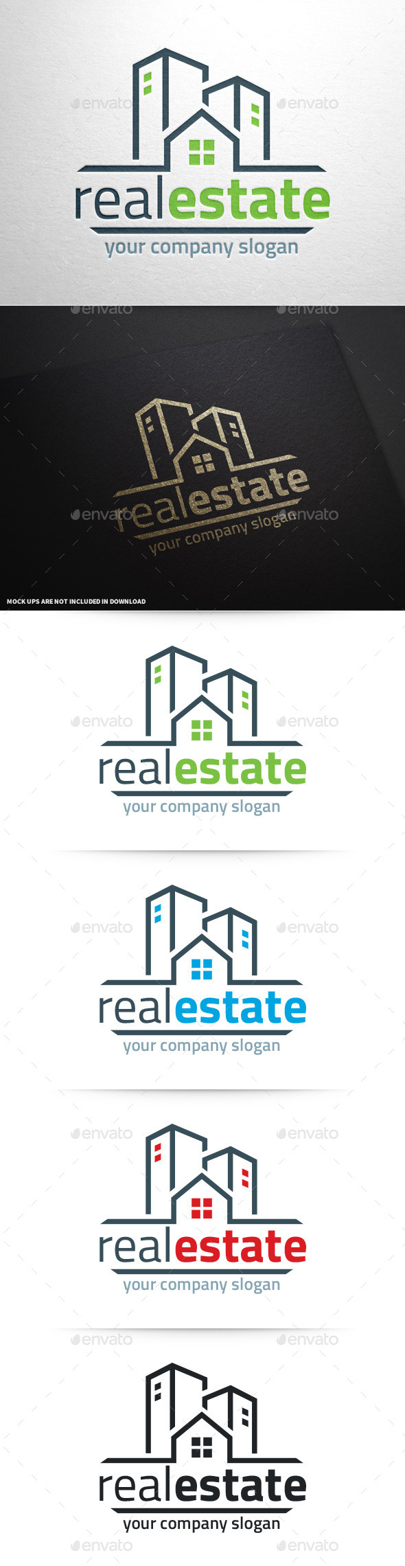 GraphicRiver Real Estate Logo Template v2 9356716