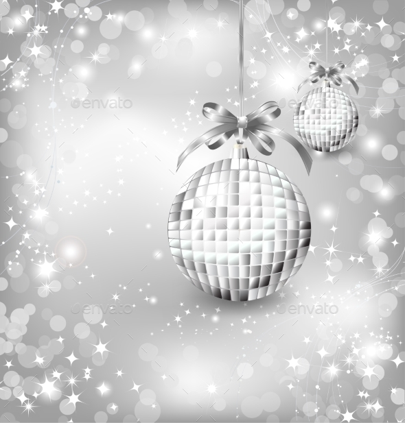 GraphicRiver Silver of Empty Snowglobes Vector Christmas 9357073