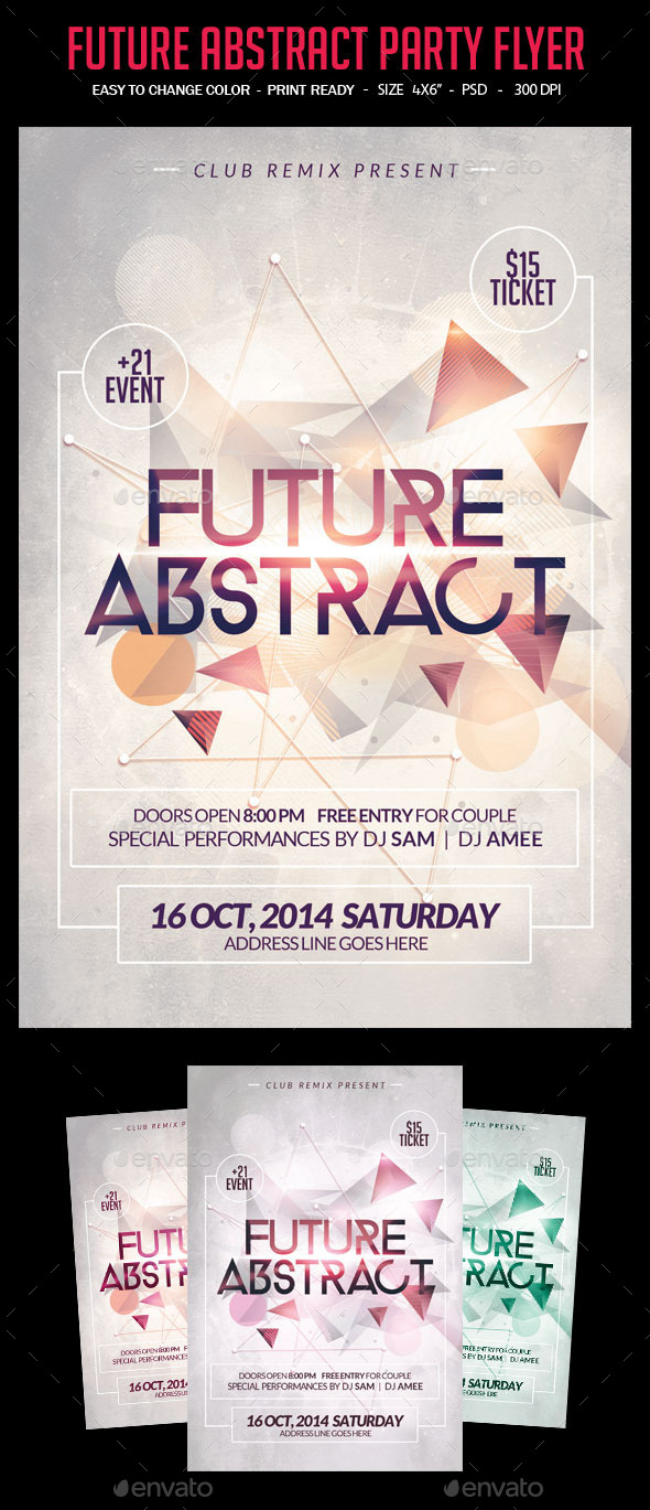 GraphicRiver Future Abstract Flyer 9357082