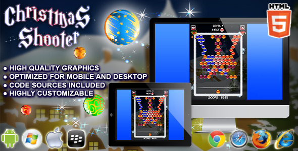 CodeCanyon Christmas Shooter HTML5 Game 9357107
