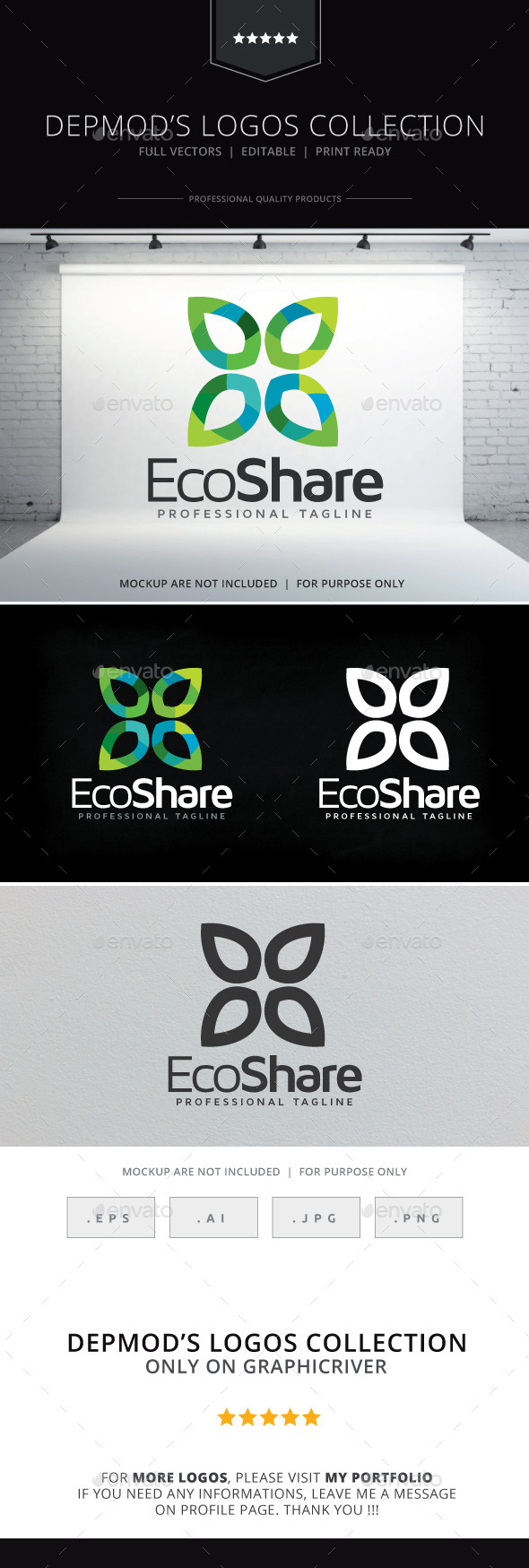 GraphicRiver Eco Share Logo 9357138