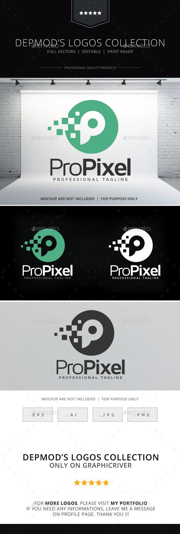 GraphicRiver Pro Pixel Logo 9357145