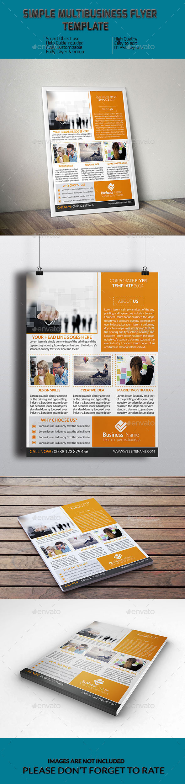 GraphicRiver Simple MultiBusiness Flyer Template 9324706