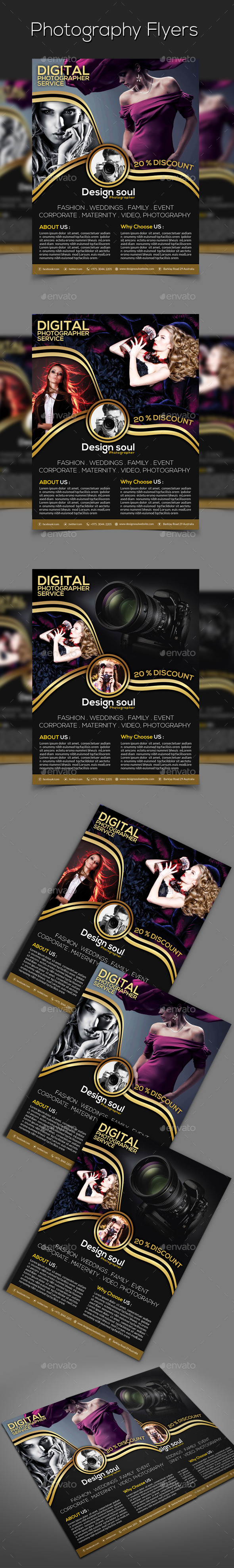 GraphicRiver Photography Flyers 9357481