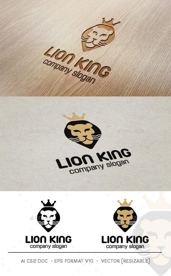 GraphicRiver Lion King Logo 9357482