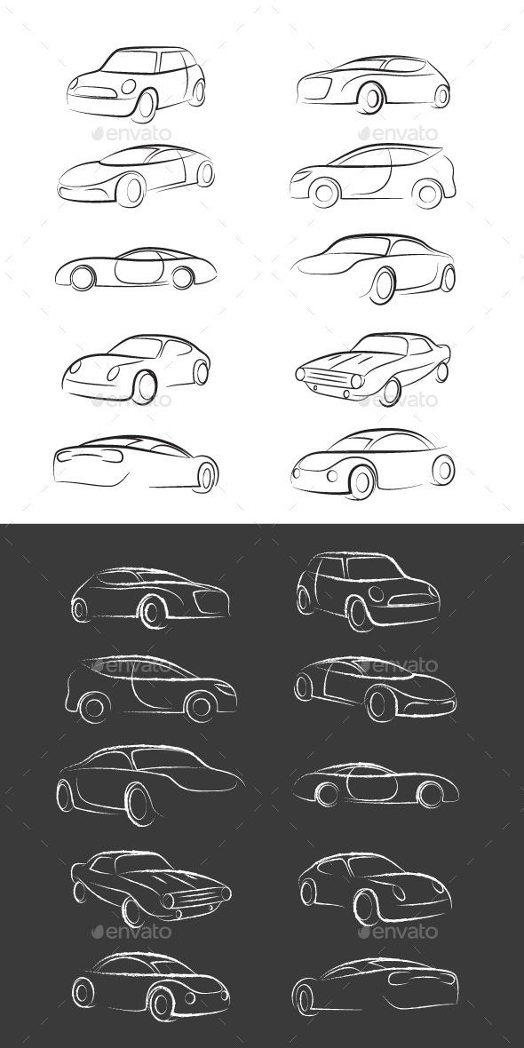GraphicRiver Car Line Brush 9357513