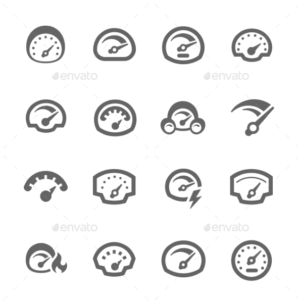 GraphicRiver Speedometer Icons 9357562