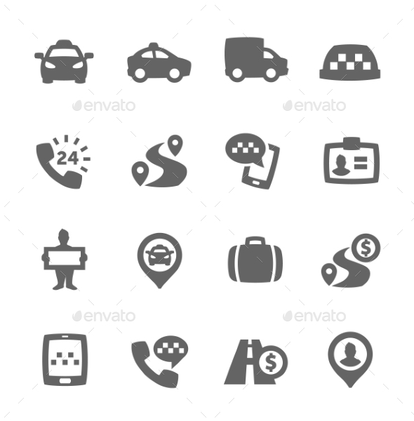 GraphicRiver Taxi Icons 9357637