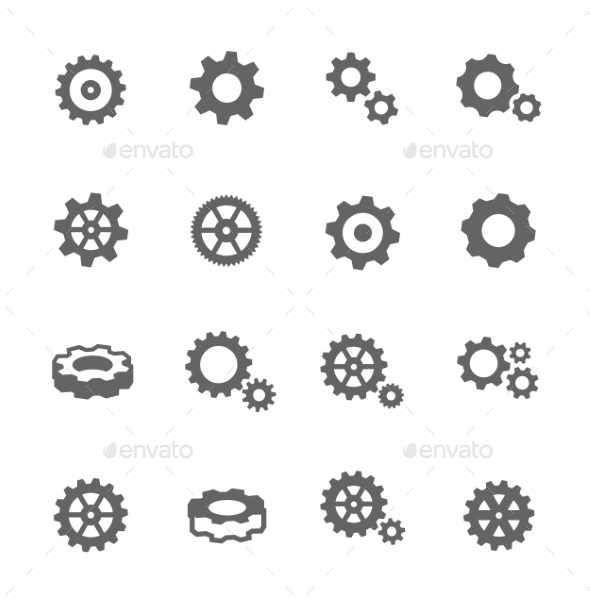 GraphicRiver Gear Icons 9357737