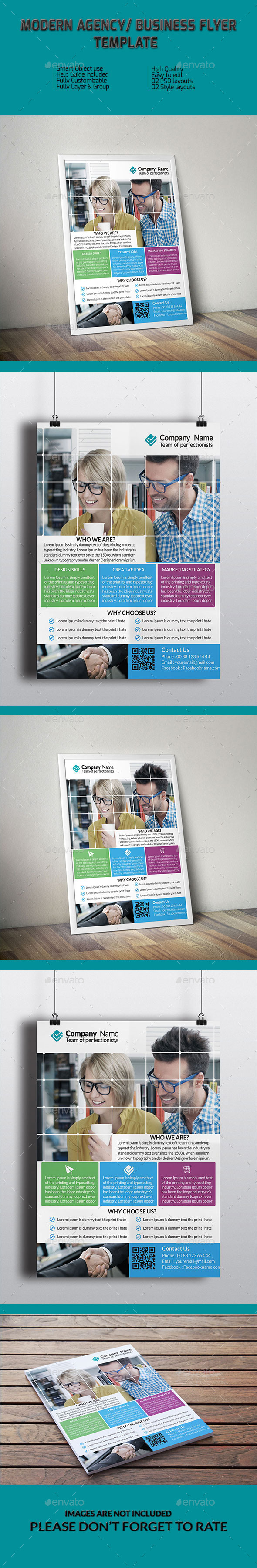 GraphicRiver Modern Agency Business Flyer Template 9323670