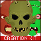Zombie Face Character Creation Kit - GraphicRiver Item for Sale