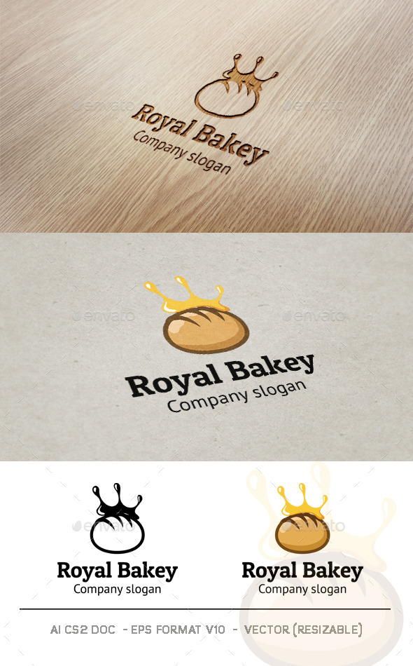 GraphicRiver Royal Bakery Logo 9358170