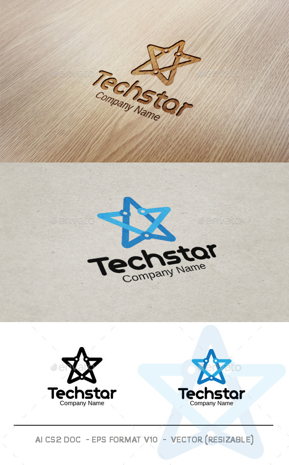 GraphicRiver Tech Star Logo 9358271