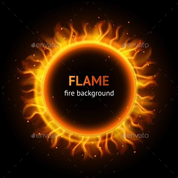 GraphicRiver Flame Circle Background 9358348