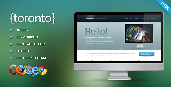 Toronto - HTML/CSS Template