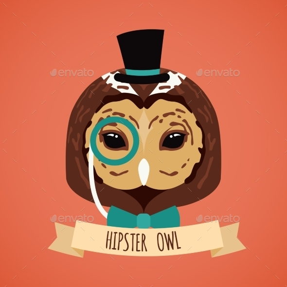 GraphicRiver Animal Hipster Portrait 9358396