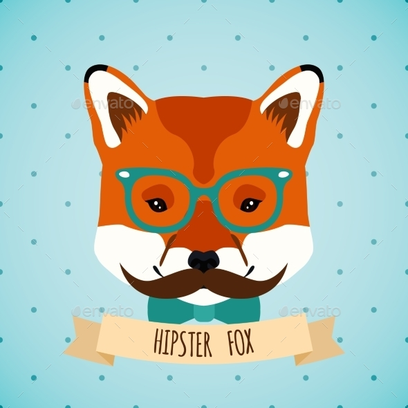 GraphicRiver Animal Hipster Portrait 9358407