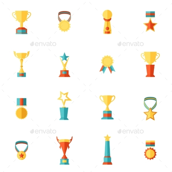 GraphicRiver Trophy Icons Set 9358435