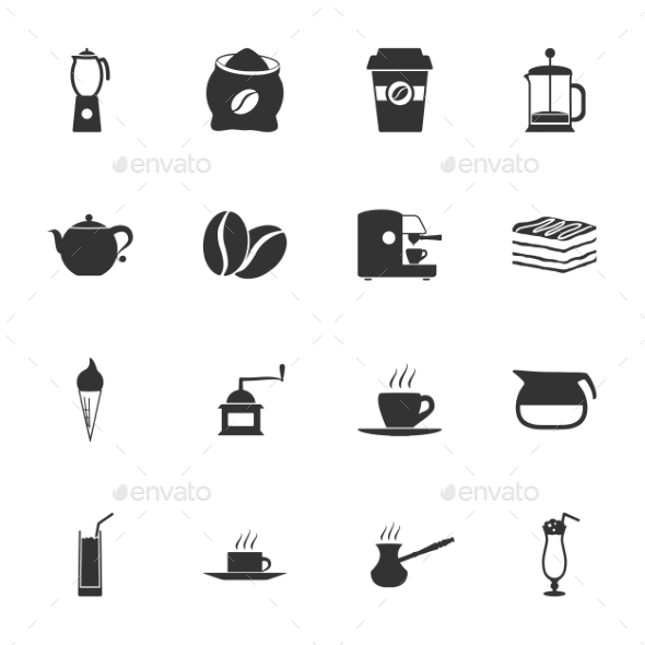 GraphicRiver Coffee Icons 9358494