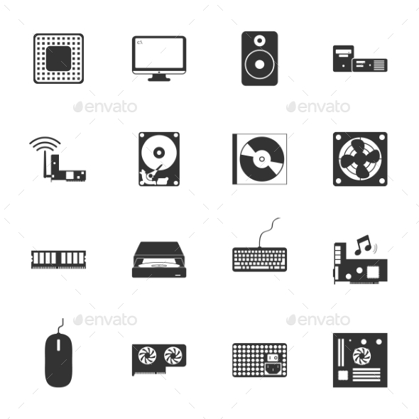 GraphicRiver Computer Peripherals Icons 9358495
