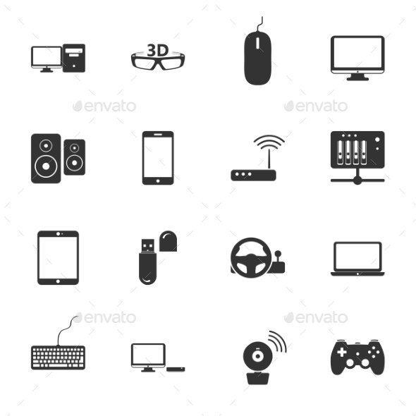 GraphicRiver Computers Peripherals Icons 9358497