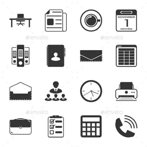 GraphicRiver Office Icons 9358500