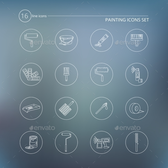 GraphicRiver Painting Icons Outline 9358554