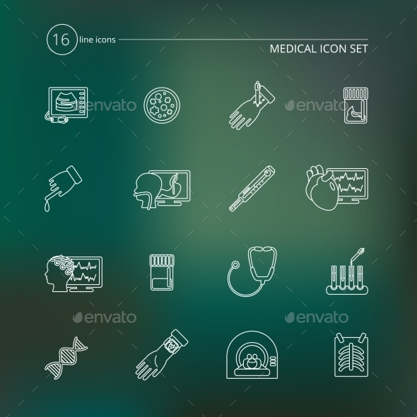 GraphicRiver Medical Tests Icons Outline 9358556
