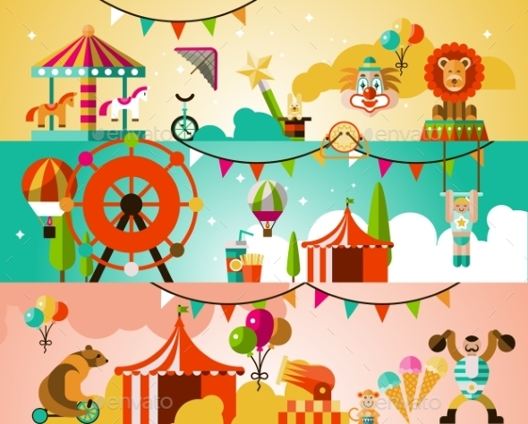 GraphicRiver Circus Performance Background 9358568