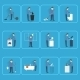 People Cleaning Icons - GraphicRiver Item for Sale