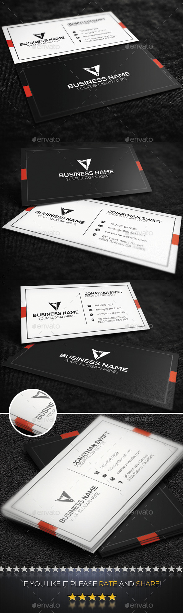GraphicRiver Corporate Business Card No.06 9358781