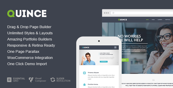 ThemeForest Quince Modern Business Theme 9299244