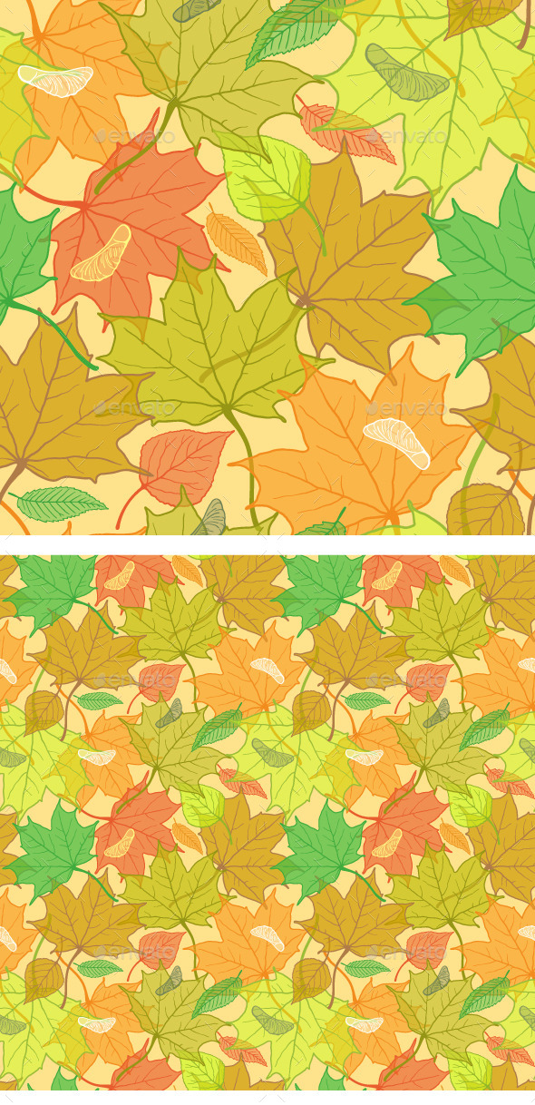 GraphicRiver Autumn Fallen Leaves Pattern 9359060
