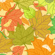 Autumn Fallen Leaves Pattern - GraphicRiver Item for Sale