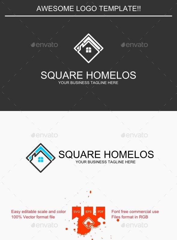 GraphicRiver Square Homelos Logo 9250429