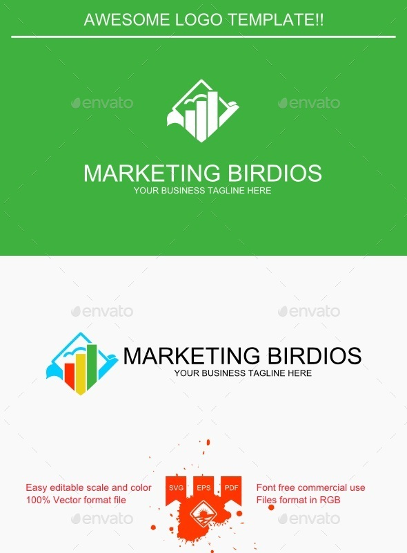 GraphicRiver Marketing Birdios Logo 9250554