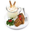 Fruitcake and Eggnog Isolated - PhotoDune Item for Sale