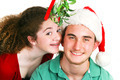 Christmas Mistletoe Kiss - Teens - PhotoDune Item for Sale