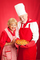 Senior Couple Bakes Together - PhotoDune Item for Sale