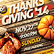 Thanks Giving Party Invitation Flyer - GraphicRiver Item for Sale
