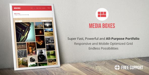 Media Boxes Portfolio Responsive Grid