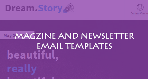 MAGZINE AND NEWSLETTER EMAIL TEMPLATES