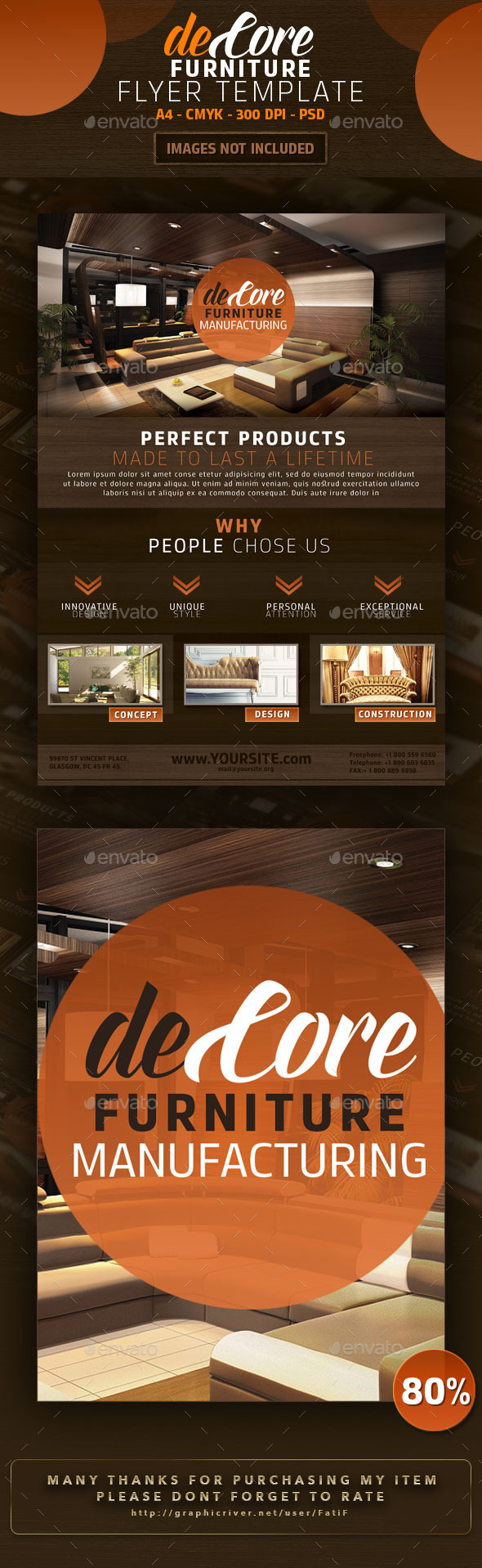 GraphicRiver DeCore Furniture Flyer Template 9359935