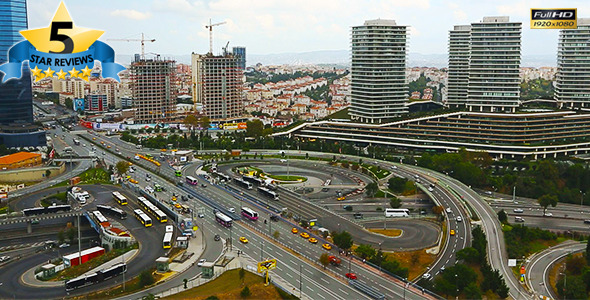 Road Junction Traffic in Istanbul