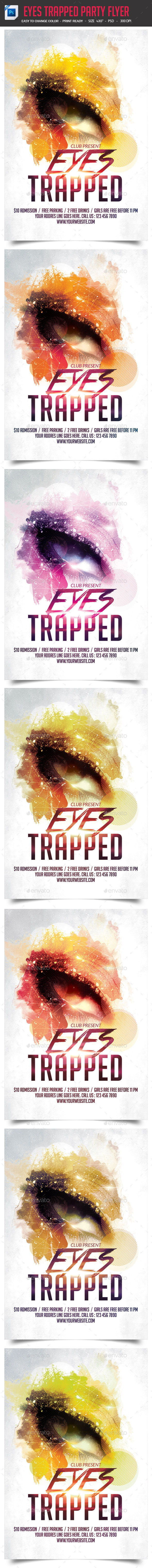 GraphicRiver Eyes Trapped Party Night Flyer 9359983