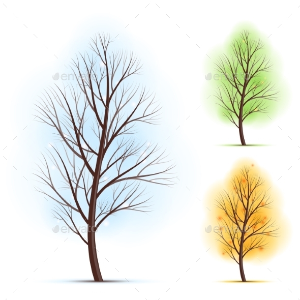 GraphicRiver Season Trees 9360008