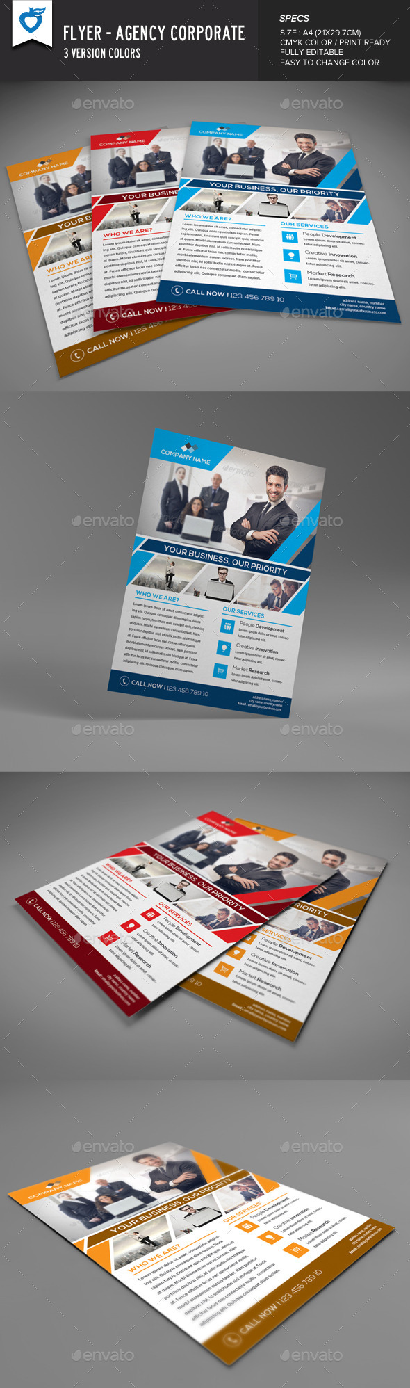 GraphicRiver Flyer Agency Corporate 9360027