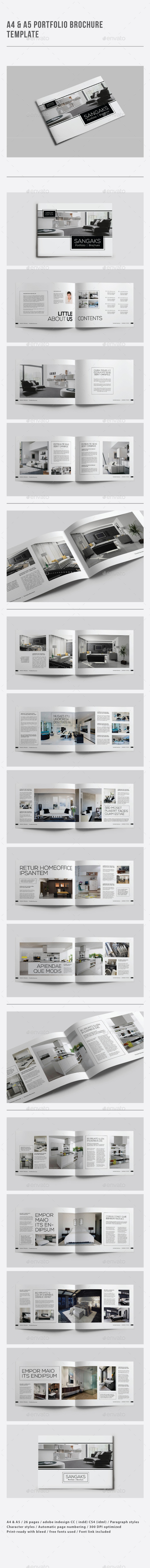 GraphicRiver A4 & A5 Portfolio Brochure Template 9360473