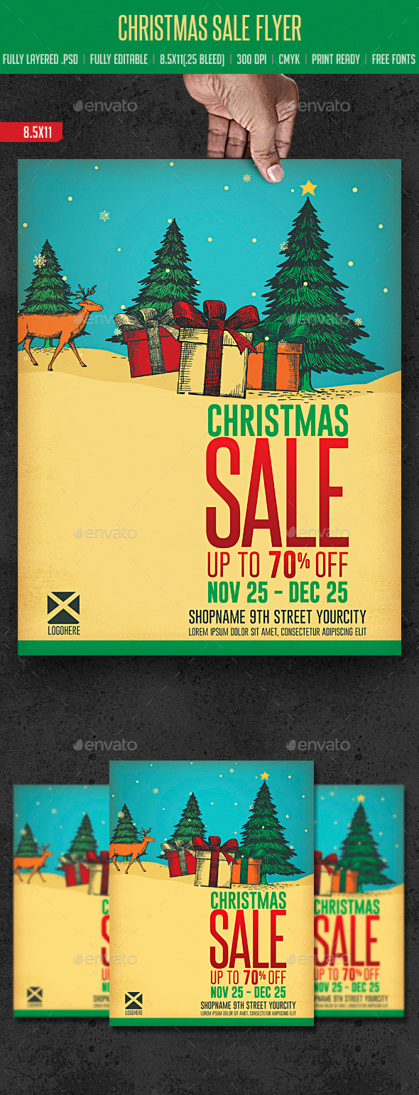 GraphicRiver Christmas Sale Flyer 9360620